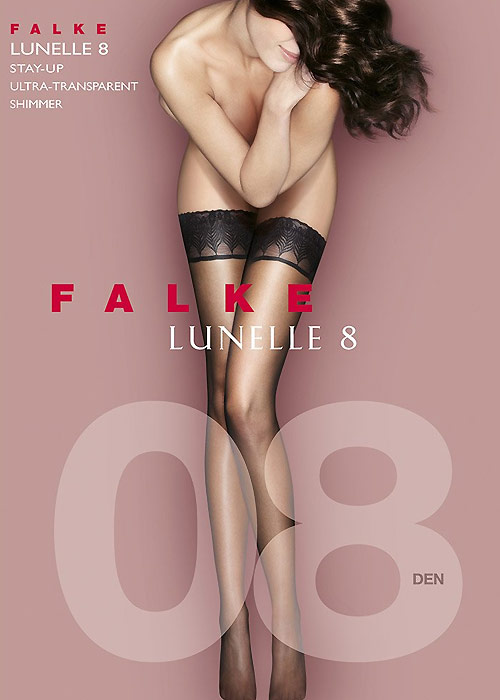 Falke Lunelle 8 Denier Contrast Top Hold Ups