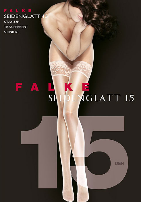 Falke Seidenglatt 15 Denier New Lace Hold Ups