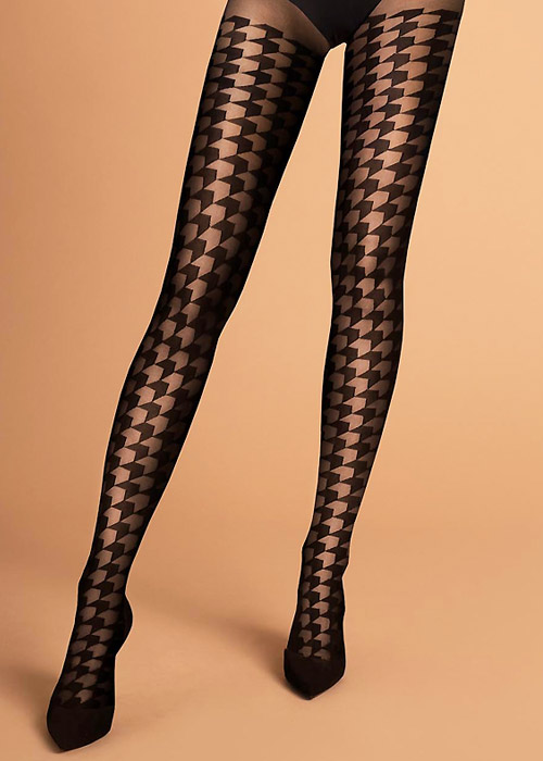 Fiore Impressa Patterned Tights