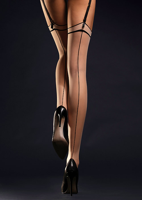 Seamed Stockings, Nylons, Tights Fiore Madame Seamed Stockings £5.99 AT vintagedancer.com