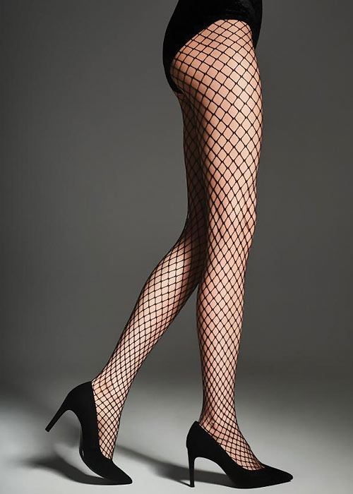 1920s Style Stockings, Tights, Fishnets & Socks Fiore Myrna 40 Fishnet Tights £7.99 AT vintagedancer.com