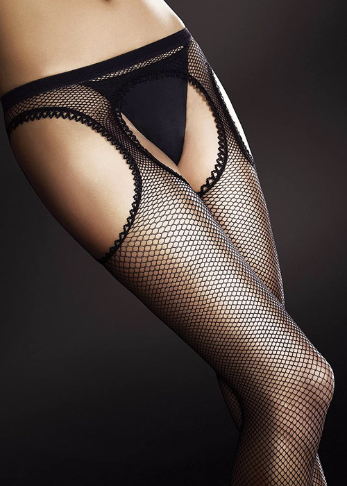 Fiore Passion 20 Fishnet Suspender Tights