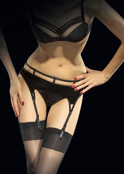Fiore Vison Suspender Belt