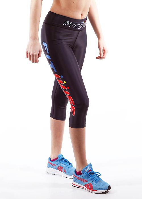 Fit Wise Black Capri Fitness Leggings
