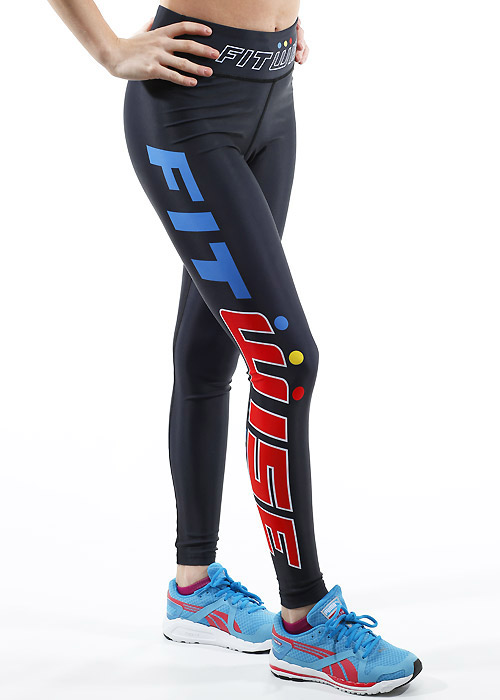 Fit Wise Black Full Length Fitness Leggings