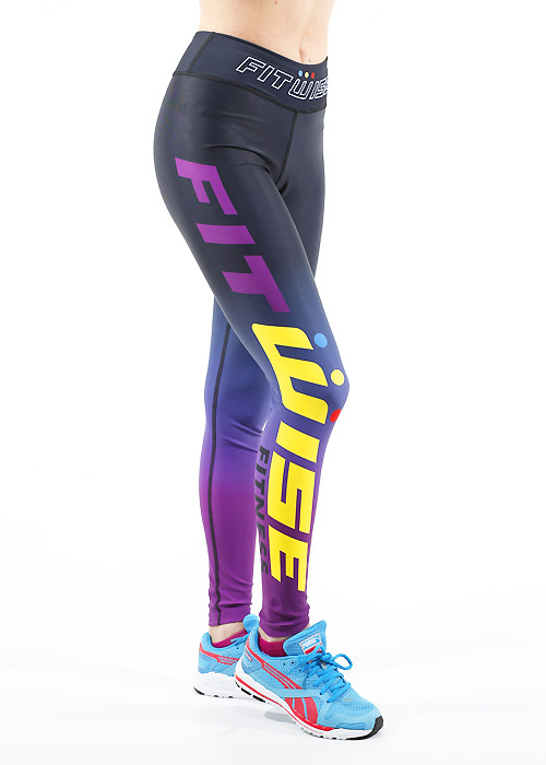 Fit Wise Purple Ombre Full Length Fitness Leggings
