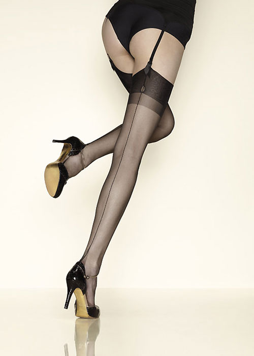 Gebre Carnation Fully Fashioned Seamed Stockings