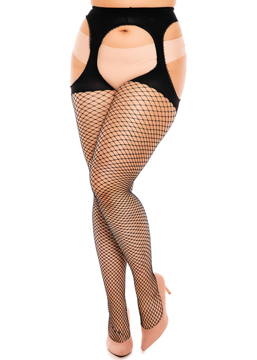 Glamory Mesh Ouvert Black Tights Zoom 4