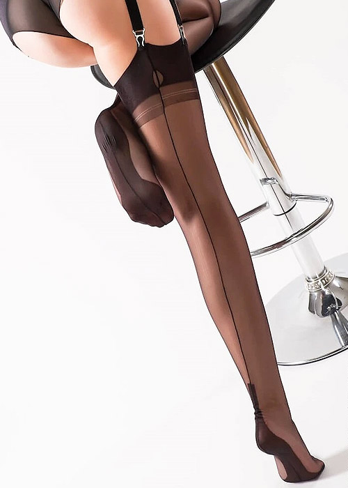 Gio Cuban heel FF Seconds, Stockings Seamed Fully
