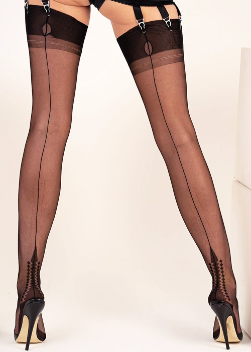 Gio Fully Fashioned Memphis Heel Vintage Stockings