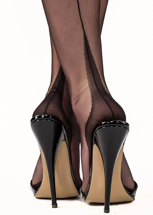Gio Classic Fully Fashioned Point Heel Stockings