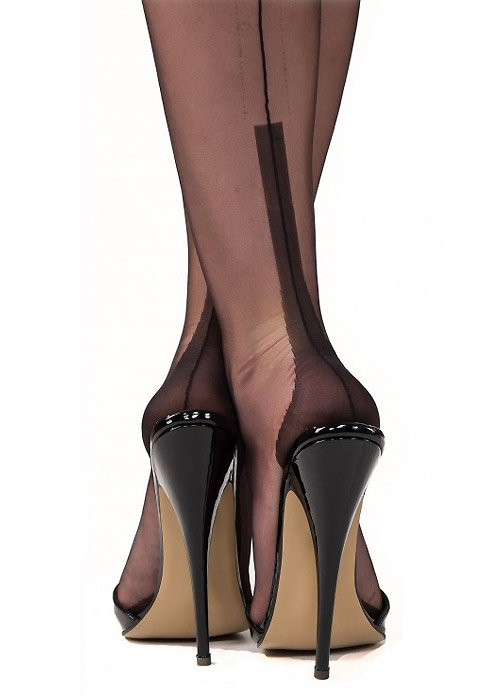 Gio Fully Fashioned Susan Heel Vintage Stockings Zoom 2