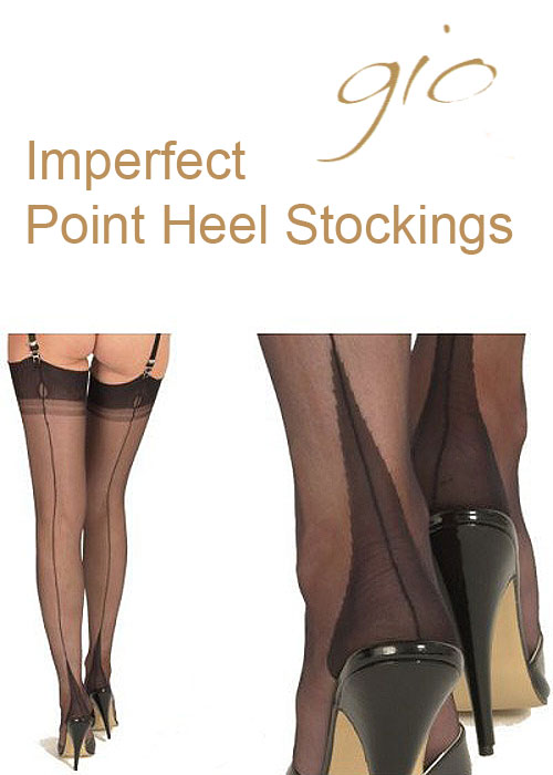b946fee98 Gio Imperfect Fully Fashioned Point Heel Stockings In Stock At UK Tights