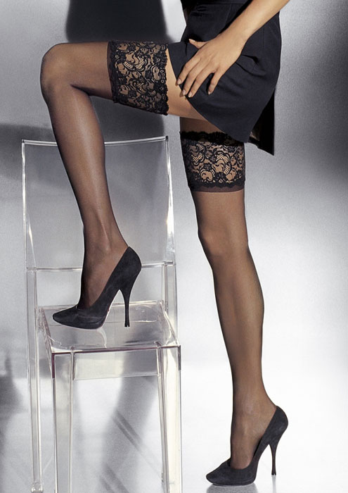 Girardi Marlene Lace Top Hold Ups