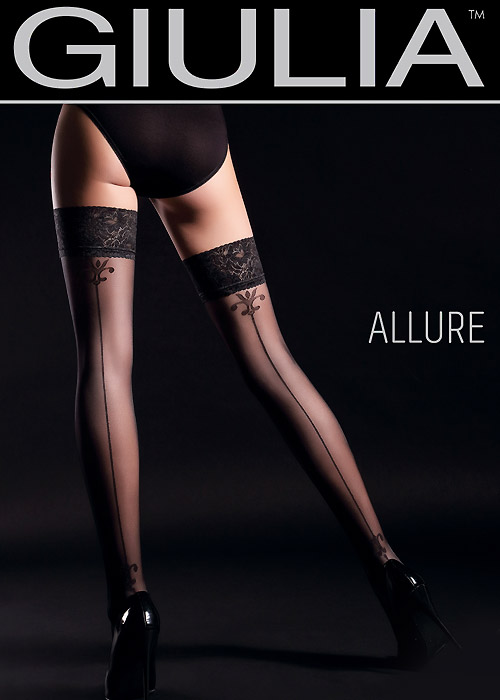 Giulia Allure Backseam Lace Top Hold Ups N.4