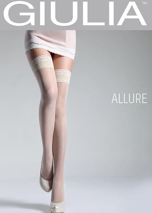 Giulia Allure Plumetis Lace Top Hold Ups N.6