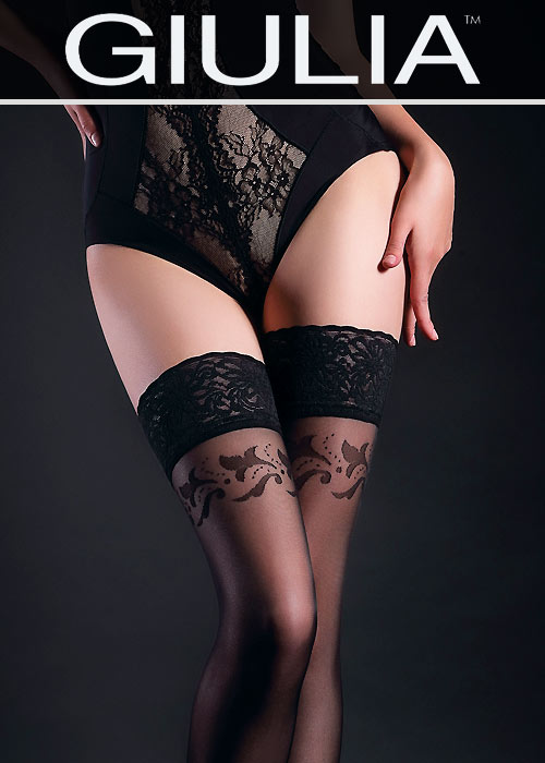 Giulia Allure Floral Top Hold Ups N.12