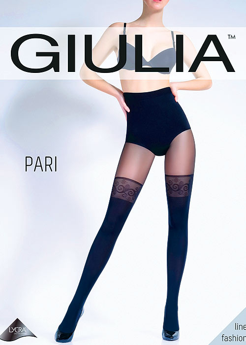 Giulia Pari 60 Mock Hold Up Tights N.25