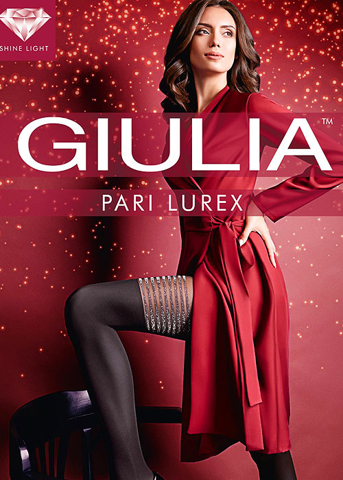 Giulia Pari Lurex Mock Hold Up Tights N.2
