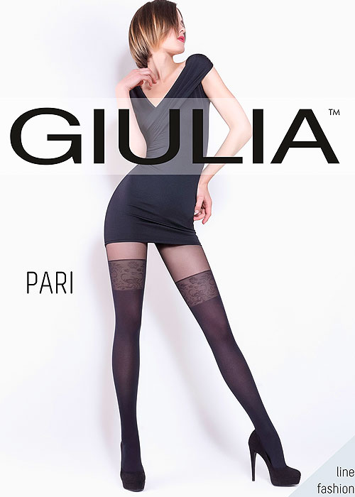 Giulia Pari Mock Hold Up Tights