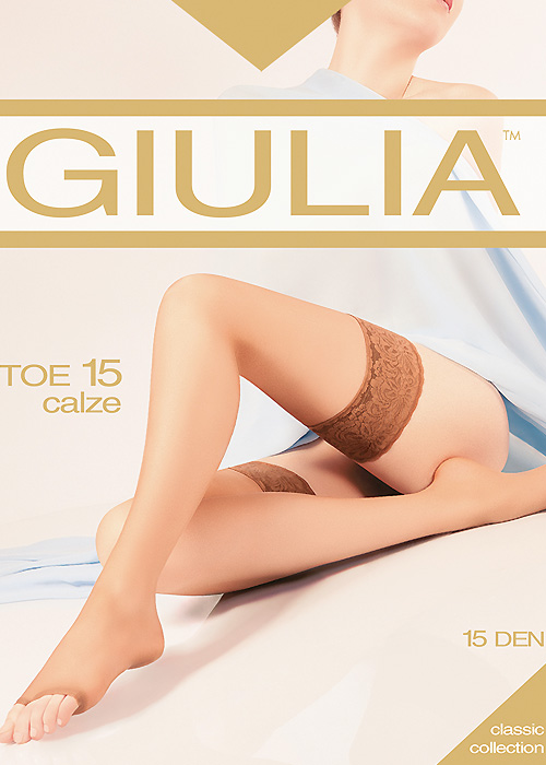 Giulia Open Toe 15 Hold Ups