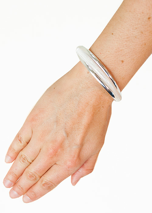 Heaven Sent Metal and Mesh Bangle