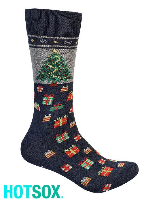 Hotsox Mens Christmas Tree Socks