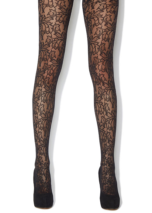 Jonathan Aston Baroque Floral Lace Fashion Tights
