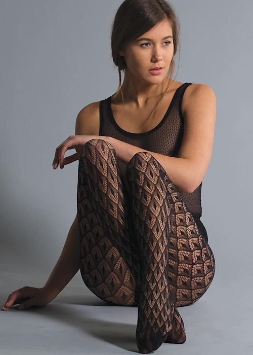 Jonathan Aston Crochet Net Tights