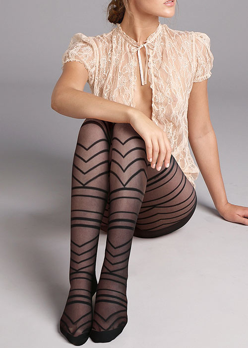 Jonathan Aston Graphic Chevron Tights