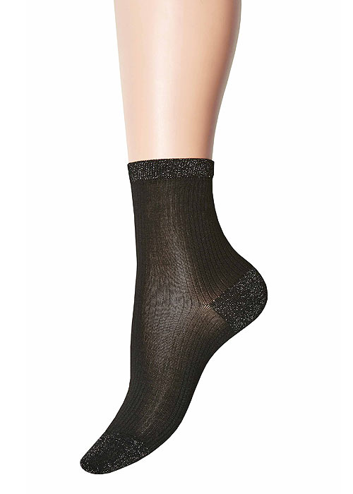 Jonathan Aston Lurex Heel And Toe Socks