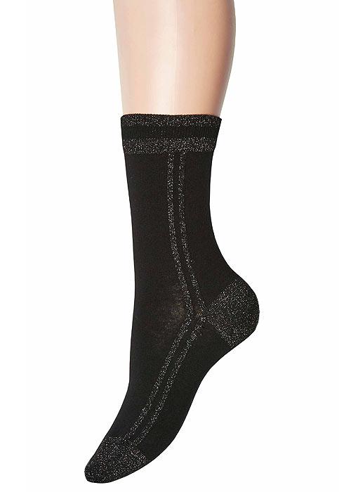 Jonathan Aston Lurex Stripe Socks