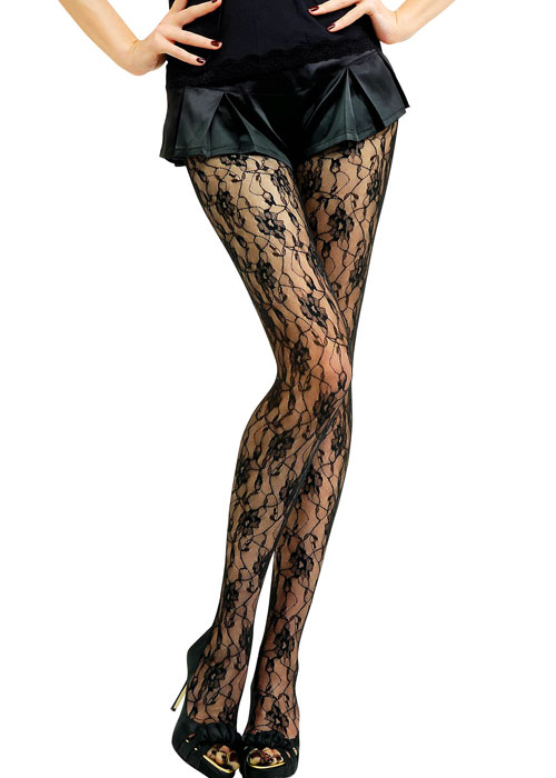 Jonathan Aston Sweet Roses Lace Tights Zoom 2