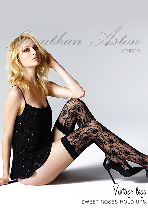 Jonathan Aston Sweet Roses Lace Hold Ups
