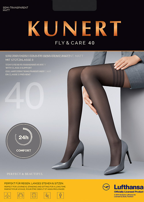 Kunert Fly And Care 40 Denier New Lace Hold Ups