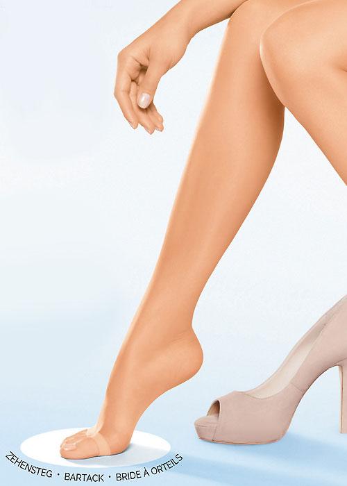 Donna Karan The Nudes Sheer Toeless Control Top Pantyhose
