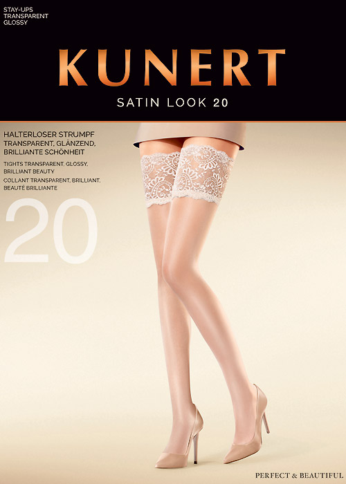 Kunert Satin Look 20 New Lace Hold Ups