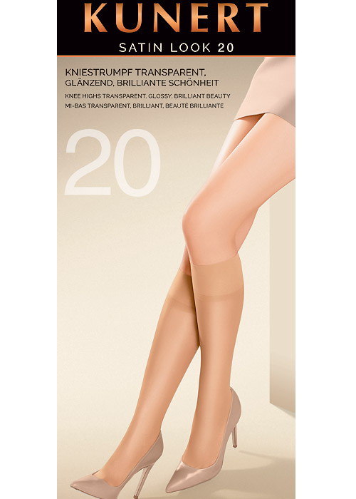 Kunert Satin Look 20 Denier Knee Highs