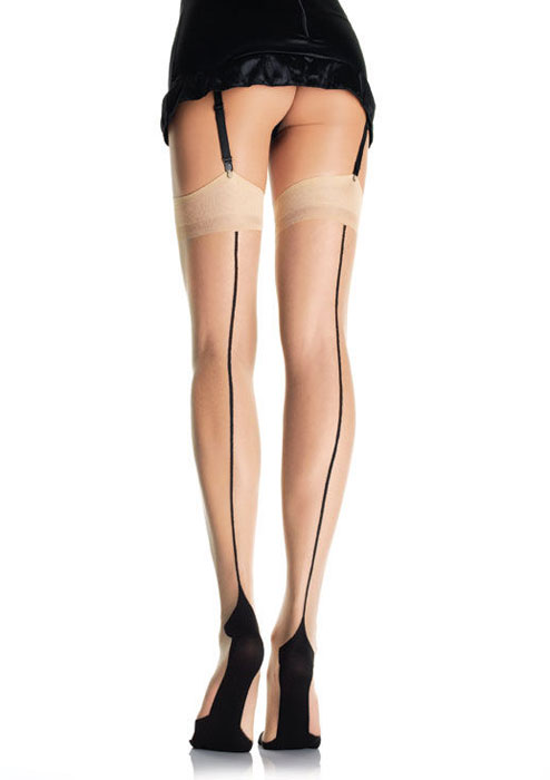 1950s Stockings and Nylons History & Shopping Guide Cuban Heel Backseam Stockings 9213 £10.99 AT vintagedancer.com