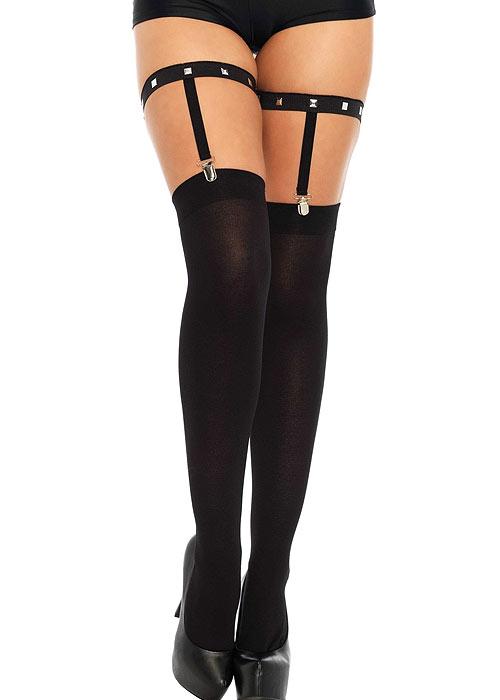 Leg Avenue Dual Strap Studded Garter Leg Suspenders