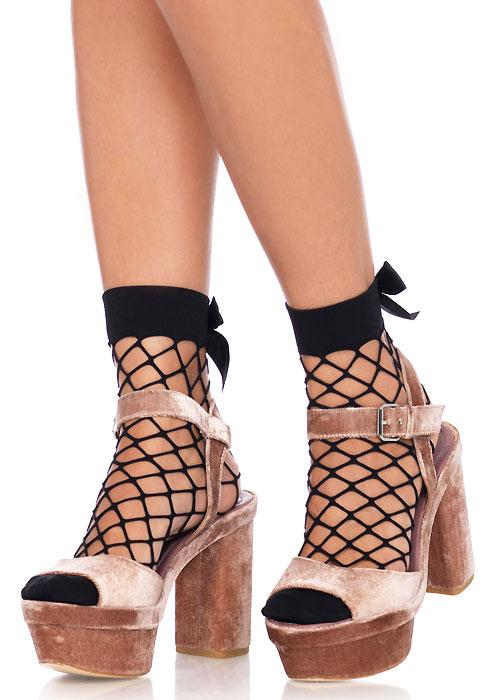 Leg Avenue Fence Net Bow Anklets