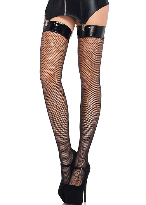 Leg Avenue Fishnet Vinyl Top Stockings