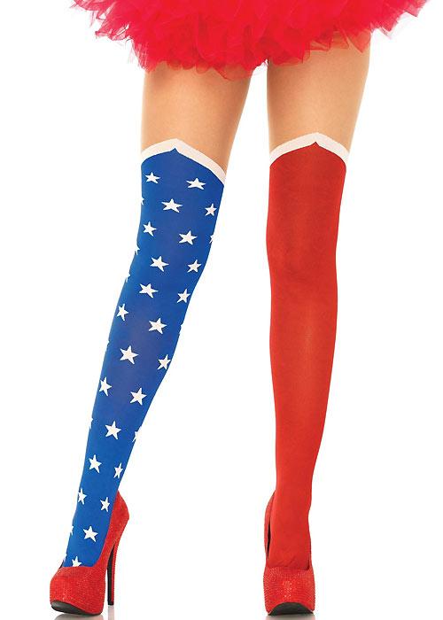Leg Avenue Hero Opaque Suspender Tights