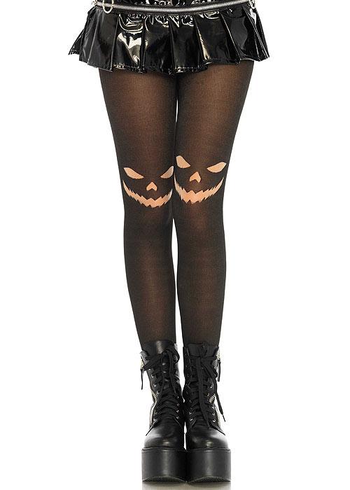 Vintage Retro Halloween Themed Clothing Leg Avenue Jack O Lantern Tights £15.99 AT vintagedancer.com