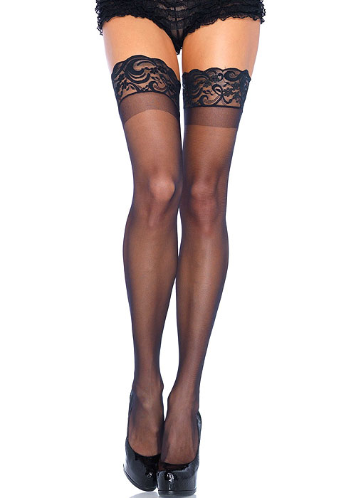 a79ff9f3bd1 Leg Avenue Lace Top Hold Ups (1022) In Stock At UK Tights