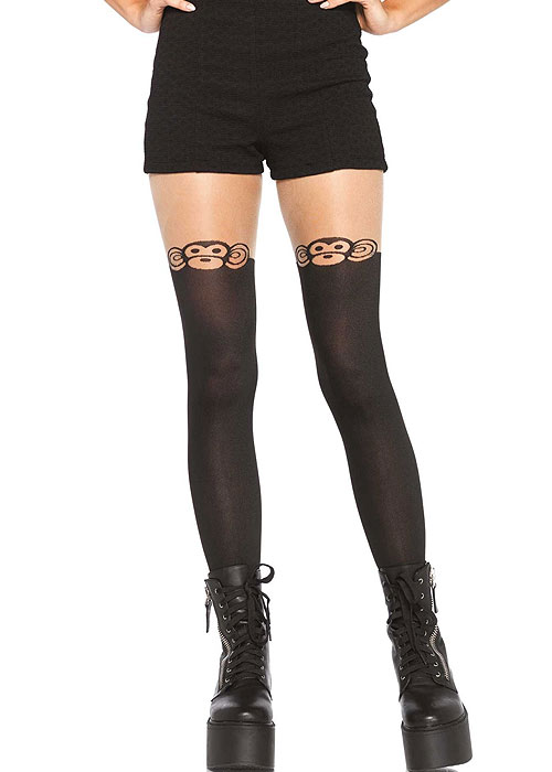 Leg Avenue Monkey Business Suspender Tights