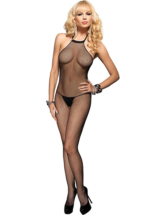 d75f4d6371 Leg Avenue Seamless Fishnet High Neck Bodystocking In Stock At UK Tights