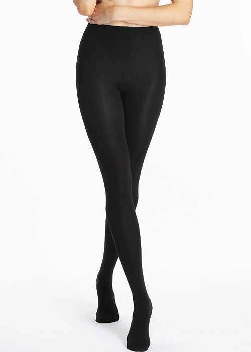 Le Bourget Chaud 100 Fleece Lined Black Tights