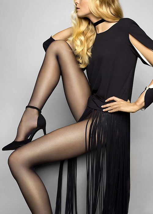 CClassic legwear style - Black sheer tights