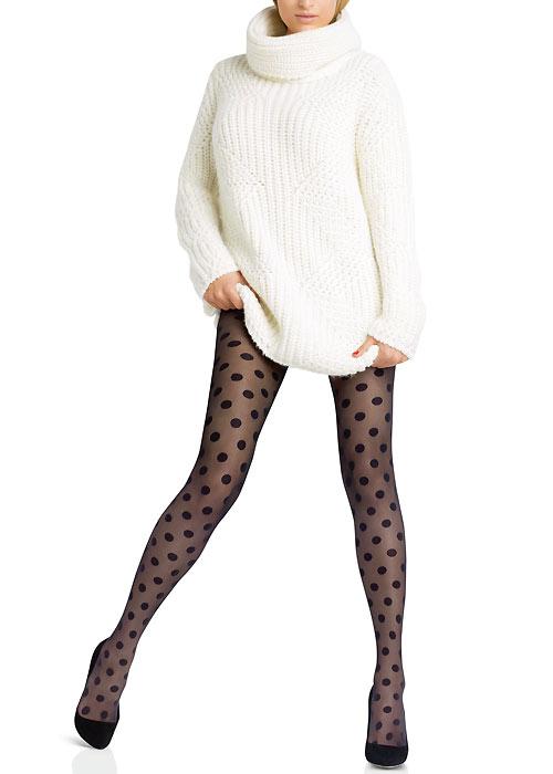 1960s Tights, Panty Hose, Stockings, Knee High Socks Le Bourget Legendaire Sheer Spot Tights £17.99 AT vintagedancer.com